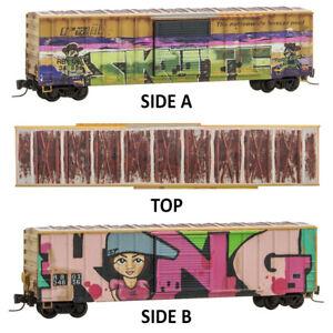 Micro-Trains MTL Z-Scale 50ft Box Car Railbox Day of the Cowboy Graffiti #34724