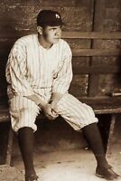 1920 Babe Ruth Dugout PHOTO Boston Red Sox New York Yankees Great