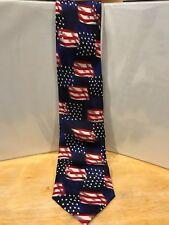 New listing God Bless America Mens Tie Patriotic American Flag Usa 100% Silk Hand Made