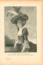 Elisabeth de France par Adélaïde Labille-Guiard Peintre GRAVURE OLD PRINT 1910