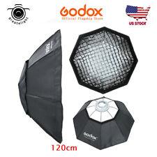 Us Godox Octagon 120cm Grid Honeycomb Bowens Mount Softbox For Flash Speedlite