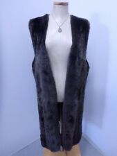 Sheared Beaver Real fur VEST Coat Jacket Brown Size Large   Women's