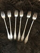 1912 ANTIQUE TOWLE MARY CHILTON STERLING SILVER COCKTAIL FORKS-SET OF SIX!!