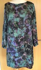 Wallis Ladies Dress 14 Silky Tunic Evening Occasion Party Floral Unusual
