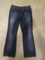 ESPRIT Denim 94107 Dark Wash Boot Cut Jeans Women's Size 33/32 Indigo Dyed