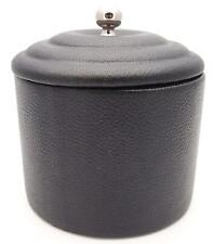 Mr. Brog Full Grade Cow Leather Pipe Tobacco Jar - Cedar Lining