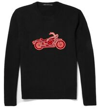 Marc By Marc Jacobs Mens Black Merino Wool Mortocycle Sweater