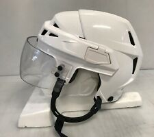 CCM V08 Pro Stock Hockey Helmet Small White Oakley Visor 9166