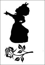 ALICE in Wonderland REGINA di CUORI & ROSE MYLAR RE utilizzabili Stencil