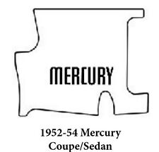 1952 1954 Mercury Trunk Rubber Floor Mat Cover Kit with F-100 Mercury