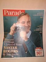 """Parade Magazine Tom Hanks """"5 Things I Learned From Mr. Rogers Interview 11-17-19"""