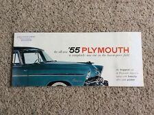 1955 plymouth original dealership showroom Prestige color sales catalog