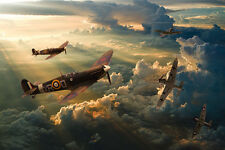 Battle of Britain Dogfight Scenario canvas prints various sizes free delivery