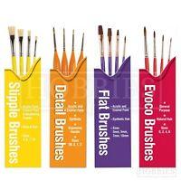 Humbrol Paint Brush Sets Model Hobby Wargaming Evoco Detail Flat Stipple Brushes