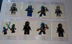 10 X Lego Ninjago Temporary Tattoos Kids Birthday Bag Filler #Sticker #Figure#