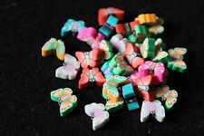 Polymer clay butterfly beads - jewellery making - childrens jewellery