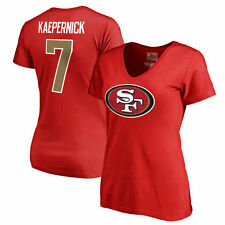 Herren T-Shirt American Football Uniform San Francisco 49ers Kaepernick #7 Football Trikots Gruby Tee Shirts
