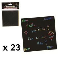 Papier magique à gratter - Dessiner sans crayon - Dessins coloriage Post-it