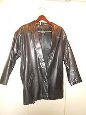 Vintage BRUNO GIOVANNI Black REAL Leather JACKET Coat Women's size M