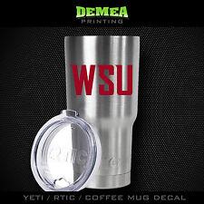 Washington State - Wsu - Yeti/Rtic/Yeti Rambler/Tumbler/Coffee Mug-Decal-Red