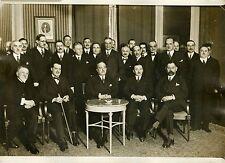 """""""Délégation française CONFERENCE DESARMEMENT 1932"""" Photo originale G.DEVRED/ ROL"""