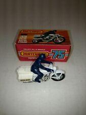 MATCHBOX LESNEY #33 POLICE MOTOR CYCLIST MOTORCYCLE