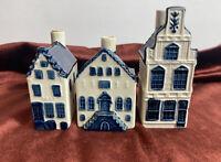 LOT of 3 KLM AIRLINE BLUE DELFT Rynbende #2,4 ,24 Business Class Souvenirs