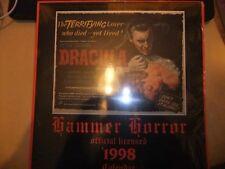 HAMMER HORROR FILMS 1998 CALENDAR CHRISTOPHER LEE PETER CUSHING SEALED DRACULA