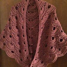 Rose Handmade Crocheted Shawl