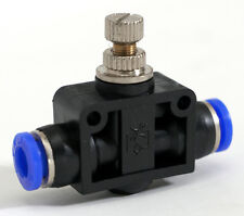 Vacuum Pressure Air Flow Speed Control Valve Tube OD 3/8