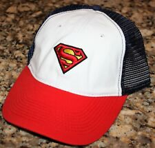 SUPERMAN DREW PEARSON OFFICIALLY LICENSED RELAXED-FIT MESH OSFM HAT CAP NEW NWT