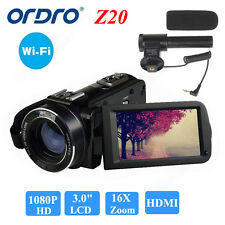"ORDRO 1080P Full HD Digital Video Camera Recorder 24MP 16X Zoom 3.0"" LCD Q6"