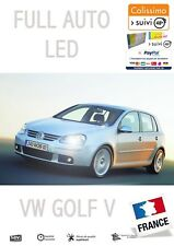 GOLF V 18 Ampoules FULL LED Veilleuse + Plaque + Habitacle Pur Blanc OBD Canbus