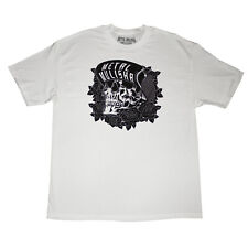 Metal Mulisha Men's Black Rose White T shirt Size Small