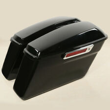 Glossy Black Hard Saddle bags Trunk For Harley Road King Electra Glide 2014-2018