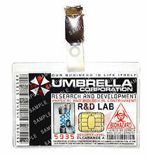 Resident Evil ID Badge Umbrella Corp Researcher T-Virus Cosplay Prop Comic Con