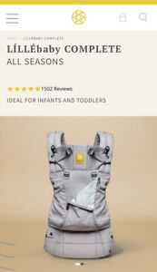 BRAND NEW Lillebaby Complete All Seasons Baby Carrier In Stone