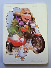 Vintage Fisher Price Muppets Plastic & Wood Tray Frame Puzzle SIDEKICK