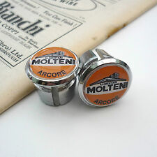 Vintage 70s Molteni, Kessels, Eddy Merckx, Chrome Racing Bar Plugs, Caps, Repro