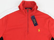 Men's POLO RALPH LAUREN Red Half Zip Soft Sport Shirt Medium M NWT NEW $98+