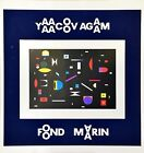 "YAACOV AGAM ""FOND MARGIN"" EXHIBITION LITHOGRAPH ON PAPER"