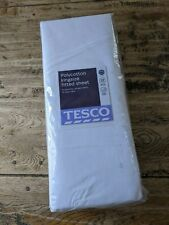 BRAND NEW AND SEALED TESCO POLYCOTTON KINGSIZE FITTED SHEET WHITE KING SIZE