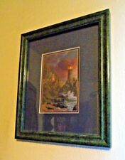 "Thomas Kinkade ""Rock Of Salvation"" Matted & Framed 4"" X 6"" Print"