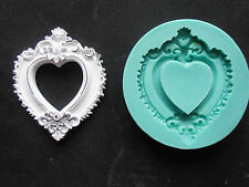 Silicone Mould FRAME HEART Sugarcraft Cake Decorating Fondant / fimo mold