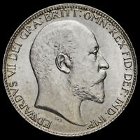 1902 Edward VII Silver Sixpence, Uncirculated
