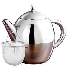 Edelstahl-Teekanne mit Siebeinsatz, 1,75 Liter, spülmaschinenfest