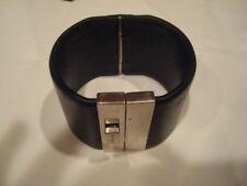 Vintage RARE SIGNED Helmut Lang Leather Stainless Unisex Bracelet EVC