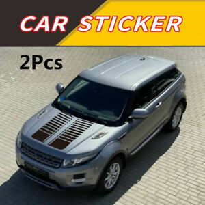 One Set 95cm Decals Stickers Glossy Black Stripe Style Fit For Car SUV Pickup