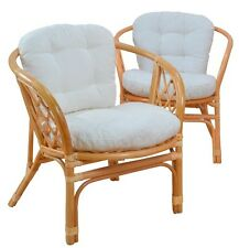 Rattansessel inkl. Sitzkissen Relaxsessel Korbsessel Sessel Stuhl Stühle Rattan