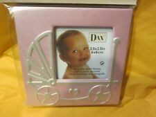 """Dax Baby Girl's Baby Carriage Frame Pink 2.5"""" x 2.5"""" New"""